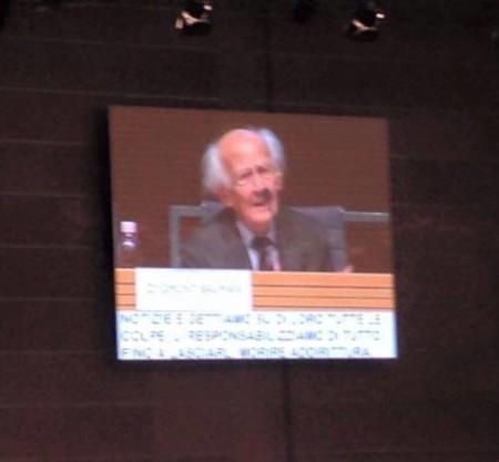 Zygmut Bauman durante il suo intervento a Rimini il 13 novembre 2015