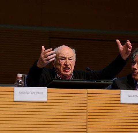 Edgar Morin a Rimini (foto Erickson)